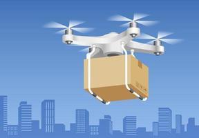 tecnologia di consegna dei droni. illustrazioni vettoriali. vettore