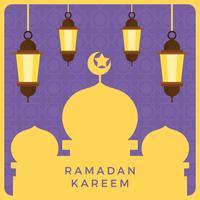 Illustrazione vettoriale di Ramadan piatto