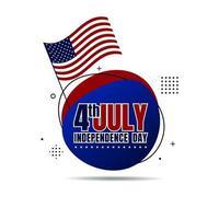 felice giorno dell'indipendenza degli stati uniti il 4 luglio. bandiera, banner, poster, brochure, cartolina d'auguri. illustrazione vettoriale