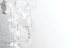 tecnologia astratta del background scientifico. interfaccia futuristica con forme geometriche. illustrazione vettoriale