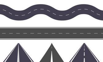 illustrazione del set di strade vettore