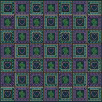 cuore messicano e cactus pattern sfondo disegno vettoriale