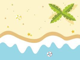 illustrazione di spiaggia tranquilla vettore