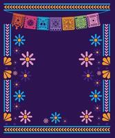 stendardo messicano banner con disegno vettoriale telaio