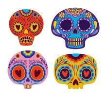 teschio messicano set disegno vettoriale
