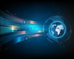 tecnologia di scambio di valuta di rete astratta blu globale vettore