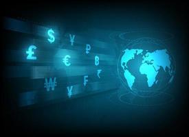 illustrazione di simboli di trasferimento di denaro e cambio valuta vettore