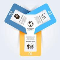 banner di opzioni stile origami business moderno. illustrazione vettoriale. può essere utilizzato per layout del flusso di lavoro, diagramma, opzioni di numero, opzioni di aumento, web design, infografiche. vettore