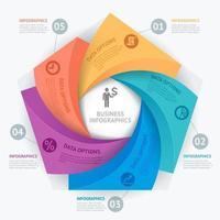 modello di progettazione infografica aziendale. illustrazione vettoriale. può essere utilizzato per layout del flusso di lavoro, diagramma, opzioni di numero, opzioni di avvio, web design vettore