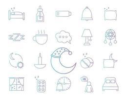 set di icone di sonno vettore