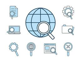 set di icone di ricerca vettore