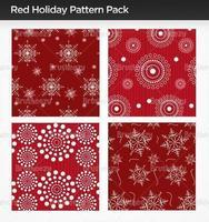 Pacchetto Motivo di Red Holiday Illustrator