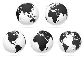 mappa del mondo globo terrestre. illustrazioni vettoriali. vettore