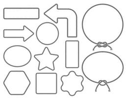 collezione silhouette corda. illustrazioni vettoriali. vettore