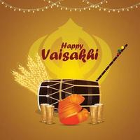 felice sfondo festival indiano sikh vaisakhi vettore