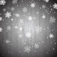 Fiocchi di neve di Natale su legno vettore