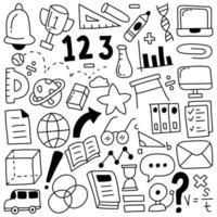 icone di doodle di educazione vettore