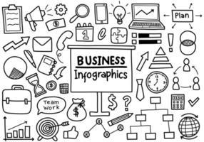 doodle di affari infografica vettore