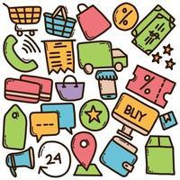 schizzo di acquisto di Internet vettore