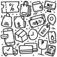 icona disegnata a mano di doodle vettore