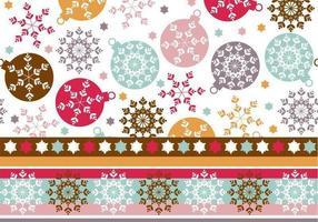 Pattern di sfondo e Illustrator per l'ornamento del fiocco di neve