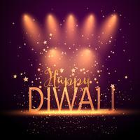 Diwali sfondo con faretti vettore