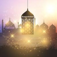 Sfondo di lanterna di Ramadan