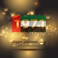 Sfondo decorativo per la celebrazione della Giornata nazionale degli Emirati Arabi Uniti