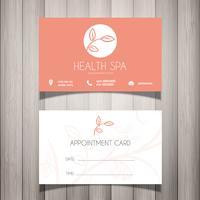 Health Spa o biglietto da visita estetista vettore