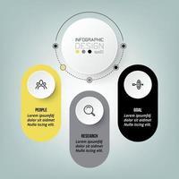 progettazione del modello di affari del diagramma infografico. vettore