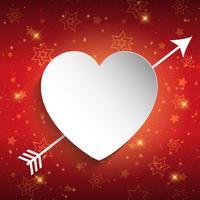 Design di San Valentino con il cuore vettore