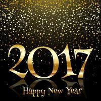 Stella d'oro felice anno nuovo sfondo vettore