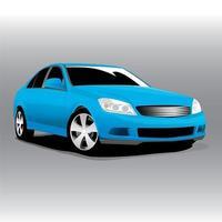 illustrazione di vista frontale dell'automobile blu sportiva di vettore