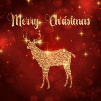 sfondo di cervo di Natale 1810 vettore