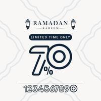 sconto di vendita di Ramadan fino a 70 illustrazione di progettazione del modello vettoriale solo per un tempo limitato