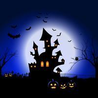 Halloween paesaggio spettrale vettore