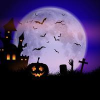 Spettrale sfondo di Halloween vettore