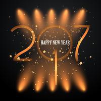 Sfondo di felice anno nuovo riflettori