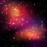 Sfondo galassia spaziale vettore