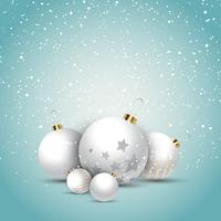 Palline di Natale vettore