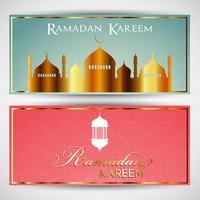 Intestazioni per il Ramadan vettore