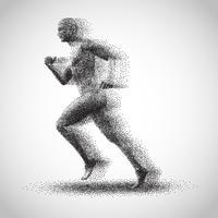 Running dot man