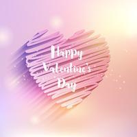 Scribble cuore design di San Valentino vettore