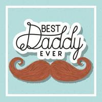 banner di celebrazione del giorno di padri con disegno vettoriale di baffi