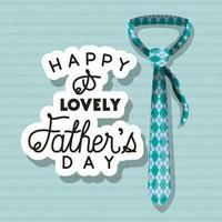banner di celebrazione del giorno di padri con disegno vettoriale cravatta