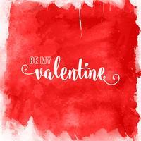 acquerello San Valentino sfondo 1512 vettore