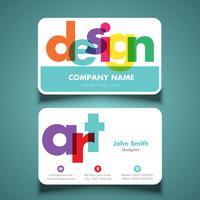 Biglietto da visita per artista o designer vettore