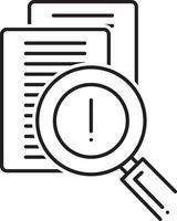 icona della linea per la valutazione del rischio vettore