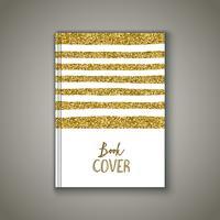Copertina di libro con design scintillante d'oro