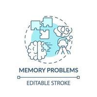 icona di concetto di problemi di memoria vettore